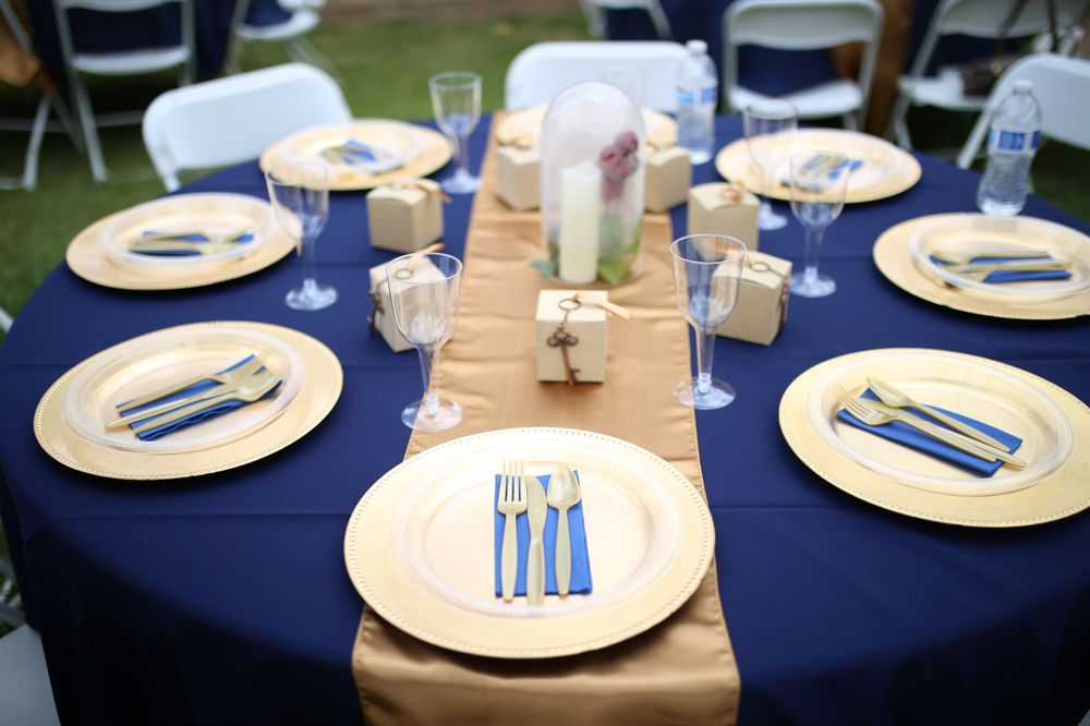 Table Set Up Rentals: Round Tables, White Folding Chairs ...