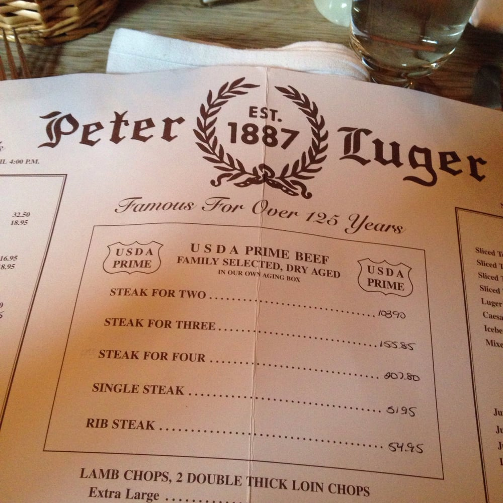 Peter Luger Steak House - Picture of Peter Luger Steak House ...