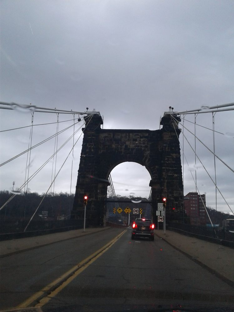 Wheeling Suspension Bridge: Wheeling, WV