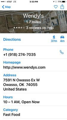 Wendys 7591 N Owasso Expy Owasso OK Foods Carry Out MapQuest
