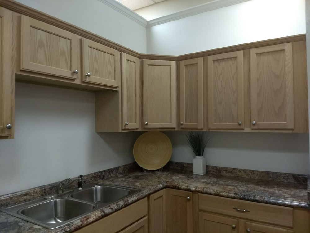 Basic Kitchen Cabinets With That 1970 S Counter Material Yelp