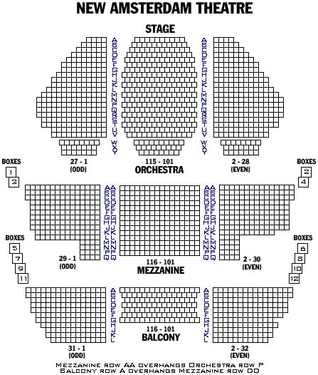 New Amsterdam Theater Map Nyc