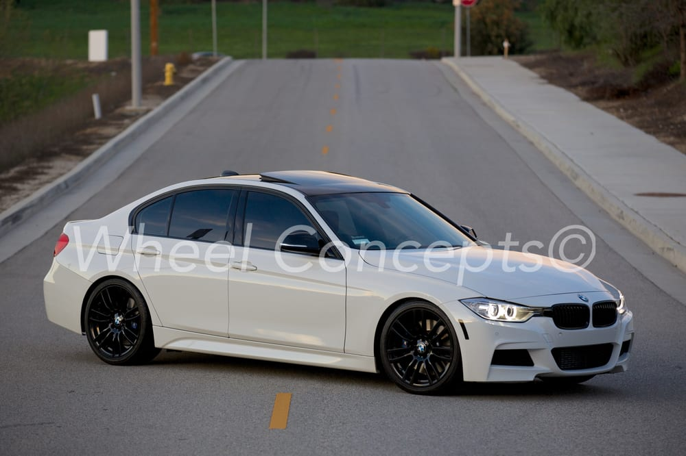 2014 bmw 335i m sport with semi gloss black powder coated wheels yelp. Black Bedroom Furniture Sets. Home Design Ideas