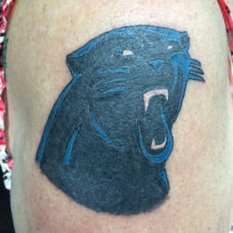 King blaise tattoo parlor tattoo 13685 calimesa blvd for Carolina panthers tattoos