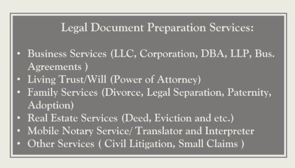 Legal Document Preparation Service Burbank Blvd Ste - Legal document preparation services