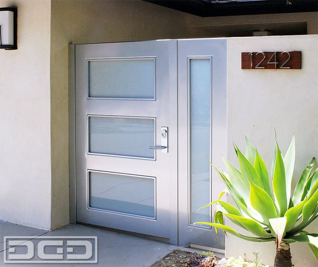 Contemporary Courtyard Entry Gates In A Fine Minimalistic