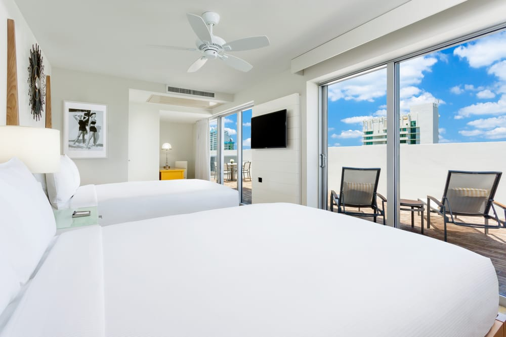 The collins suite and the allison suite each have two queen beds in the bedroom area yelp 2 bedroom suites south beach miami florida