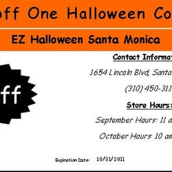 EZ Halloween Costume Store - CLOSED - Costumes - 1654 Lincoln Blvd ...