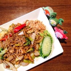 Vegetarisk pad thai med tofu