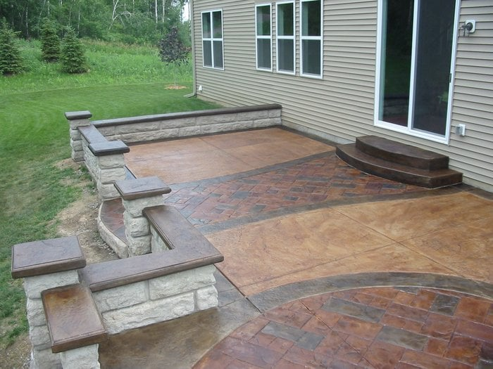 Beautiful Raised Stamped Concrete Patio Yelp