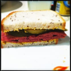 Photo Of Amigos London United Kingdom Hot Salt Beef Sandwich On Rye With