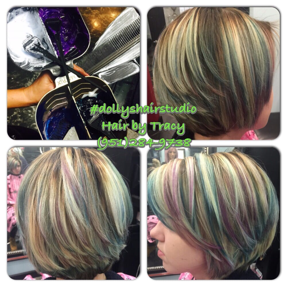 Balayage highlights blonde purple teal and blue yelp photo of hair by tracy corona ca united states balayage highlights blonde pmusecretfo Image collections