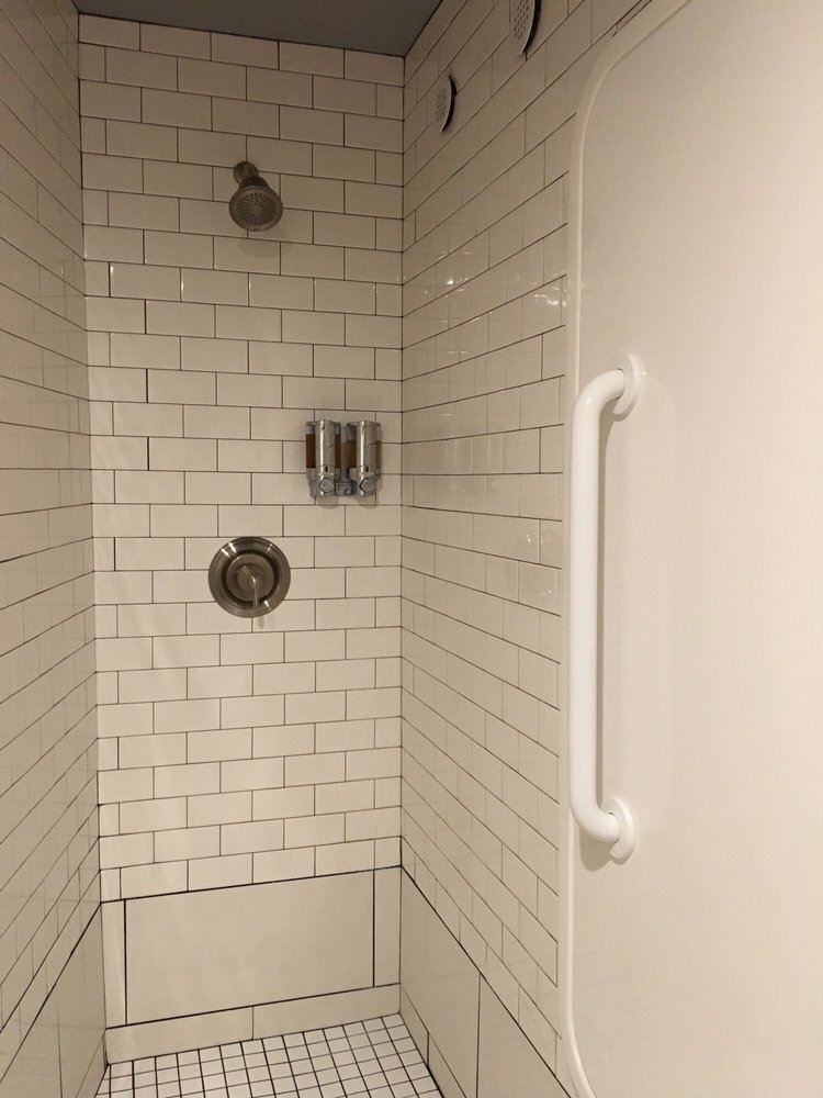 Shower next to the tub - Yelp