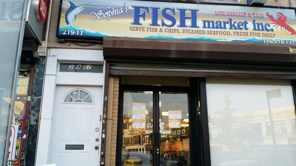 Sophias fish market seafood markets 219 17 jamaica ave for Fish market queens