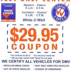 Diablo smog test only coupon