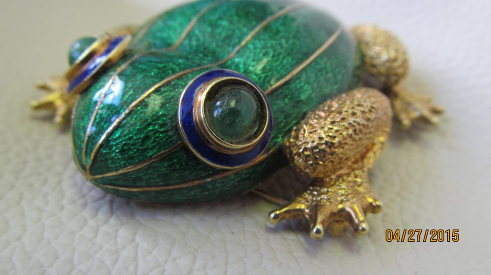 18k gold with emerald cabochon eyes yelp