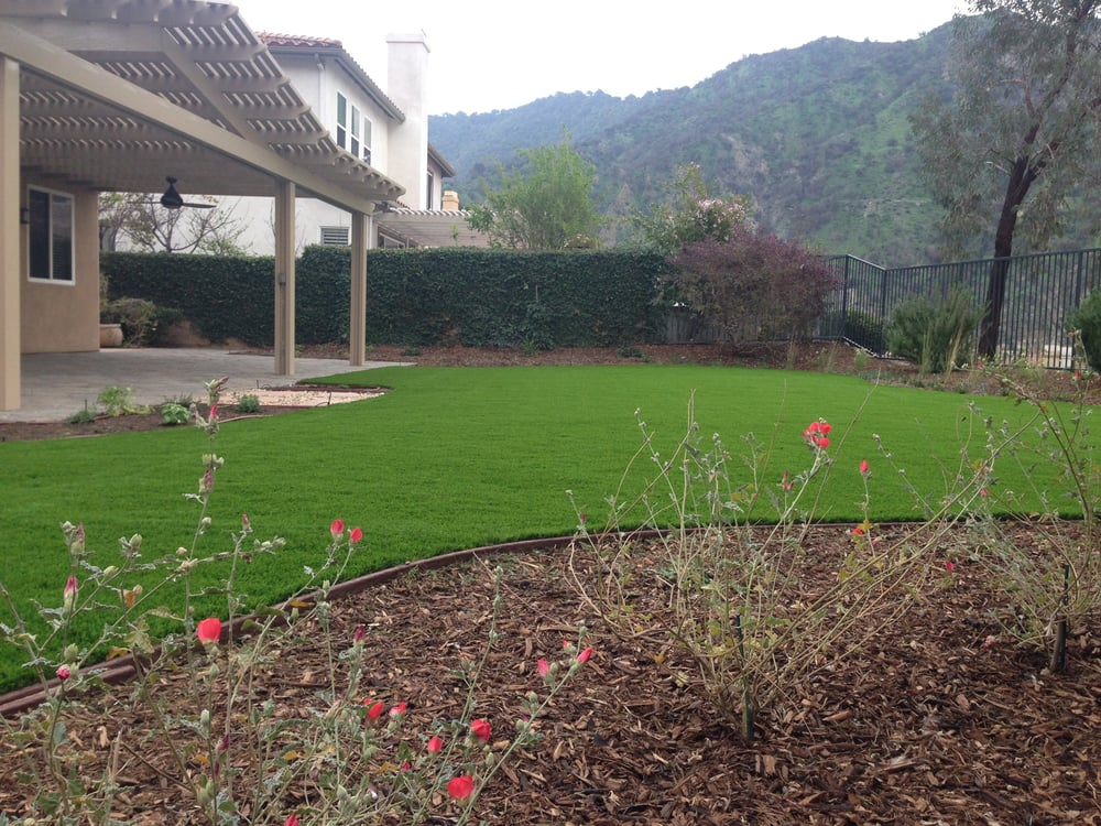Tierra Verde Planter: Completed Installation Of Artificial Turf And A California