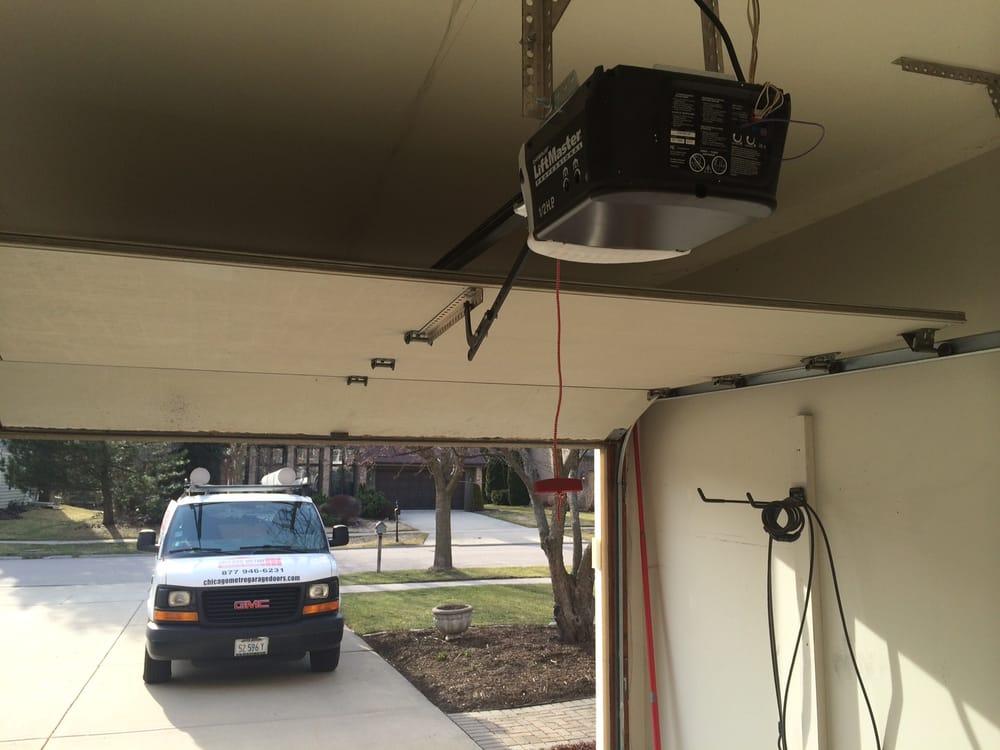 New opener installed yelp for Chicago garage door repair chicago il
