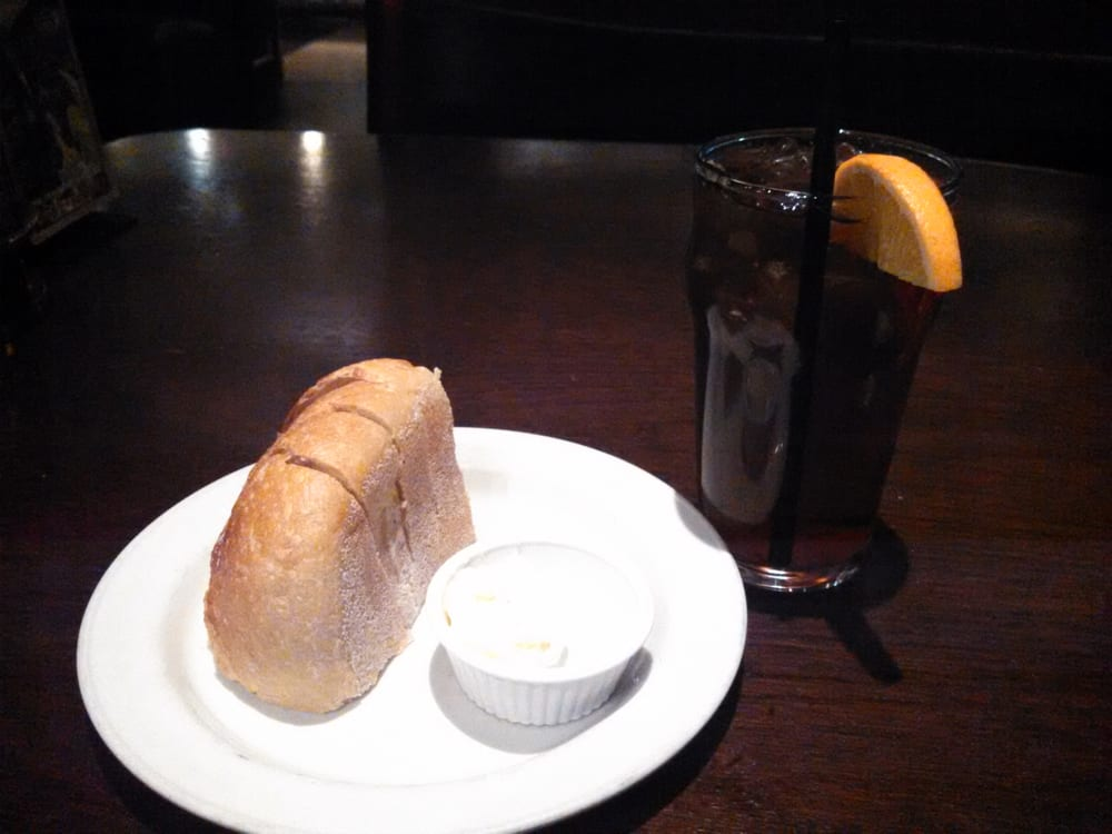 Little passion fruit ice tea and warm bread to start the for King s fish house laguna hills