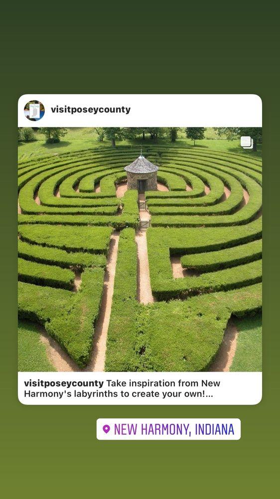 New Harmony Labyrinth: 1239 Main St, New Harmony, IN