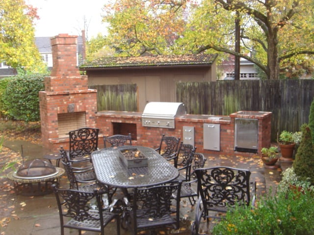 Outdoor Living Outdoor Fireplace Portland Masonry
