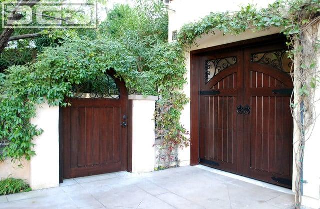 French Style Garage Doors Amp Matching Courtyard Gates