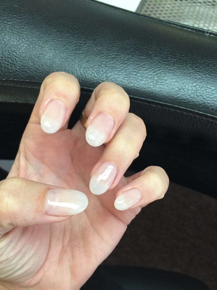 Natural looking acrylic. Color is Opi Who you Callin\' a Lyer? And ...