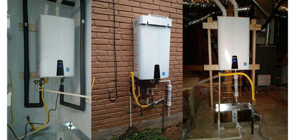 navien tankless water heaters are a versatile retrofit option- they