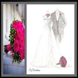 photo of dreamlines wedding dress sketch ofallon mo united states