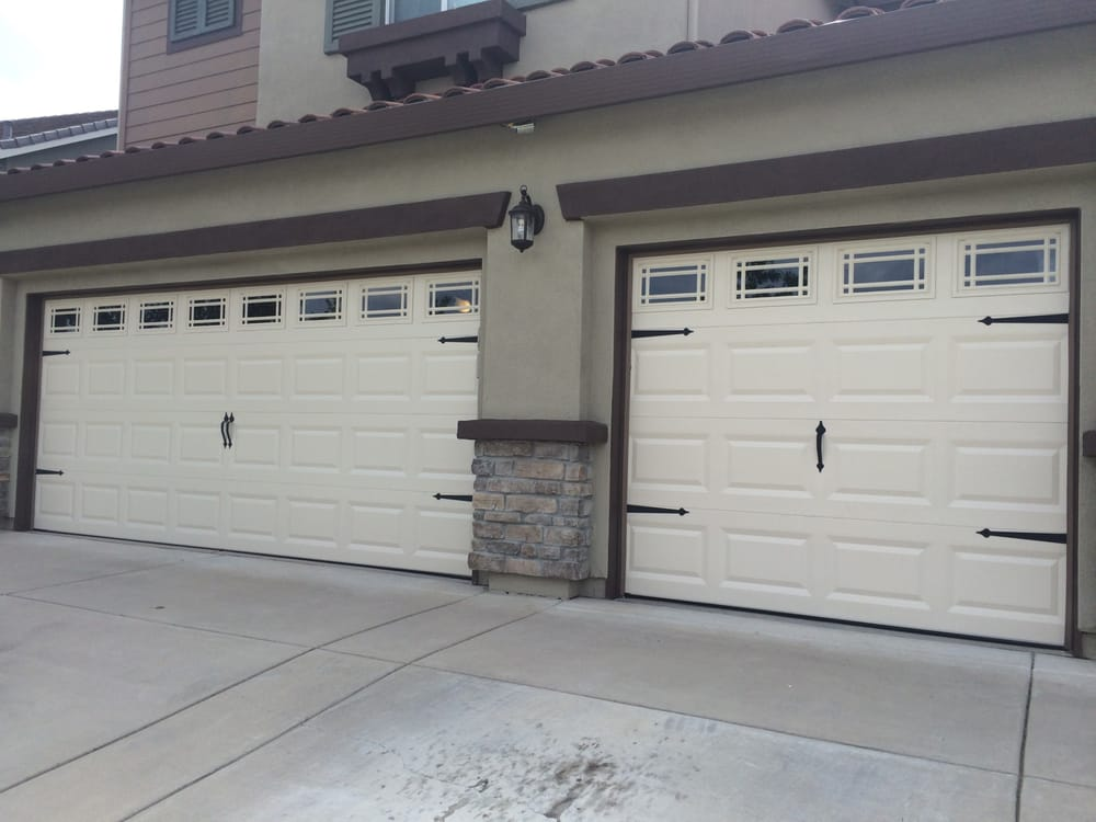 After picture of clopay model t52s almond w prairie 510 for Sacramento garage doors