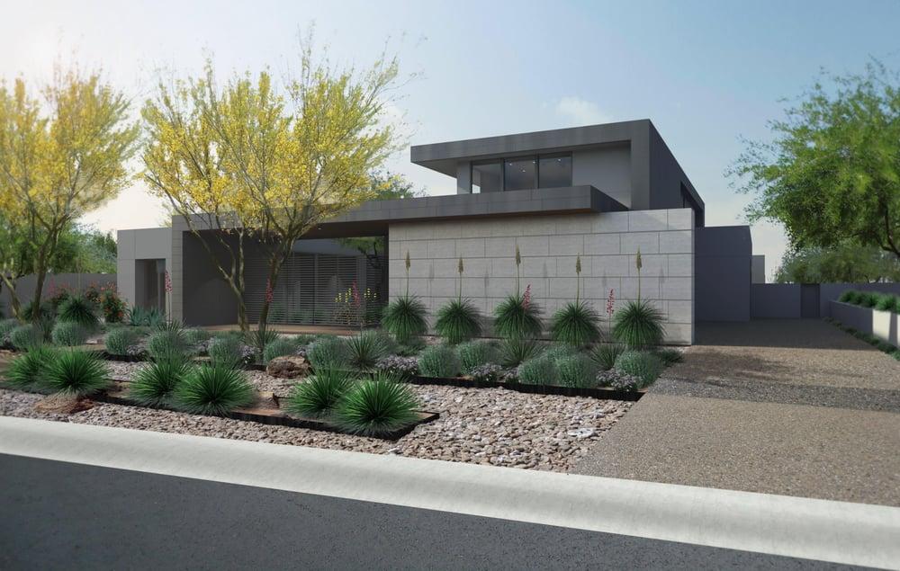 Contemporary desert architecture modern desert landscape for Modern garden house design