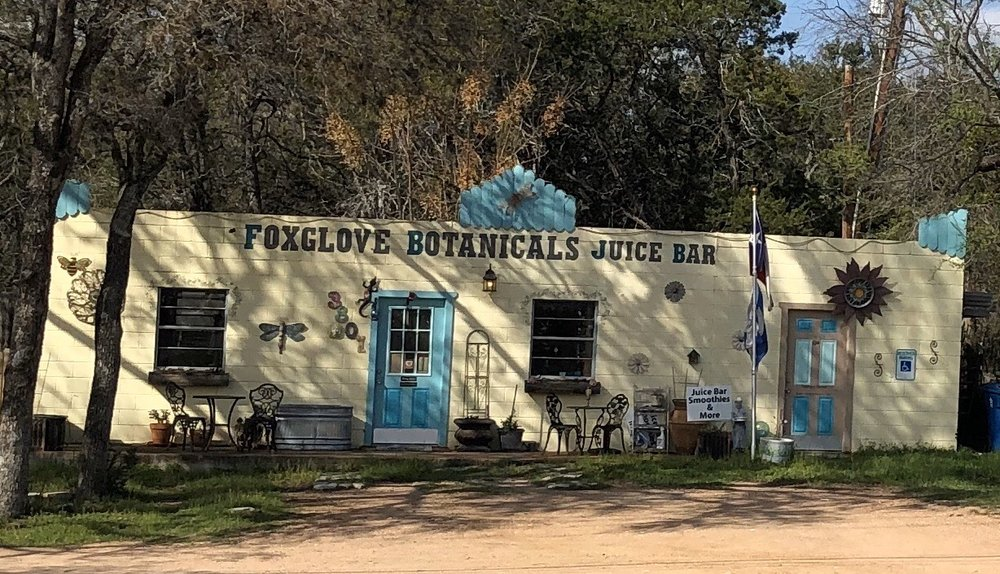 Foxglove Botanicals Juice Bar & Tea Garden: 3801 W Fm 2147, Cottonwood Shores, TX