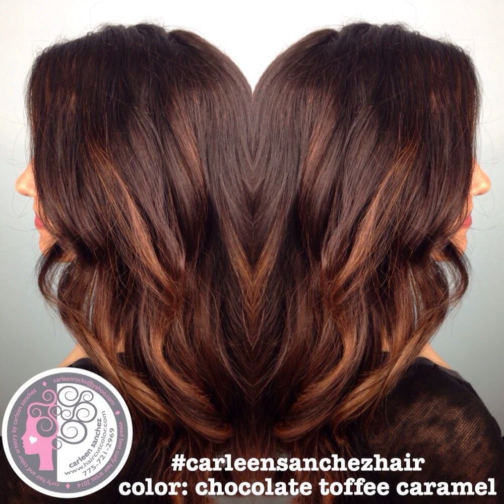 Ecaille Balayage brunette color trend by Carleen Sanchez Reno NV ...