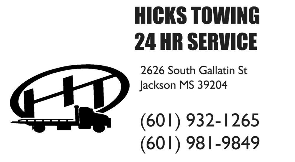 Hicks Towing Service: 1164 Old Pearson Rd, Florence, MS
