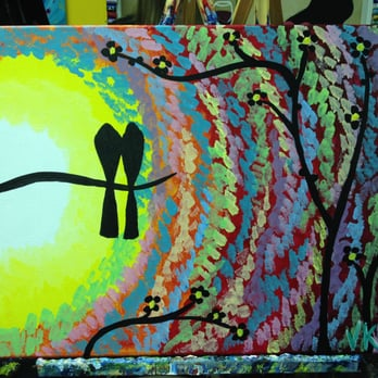 Photo of paint and vino pawtucket ri united states my finished painting