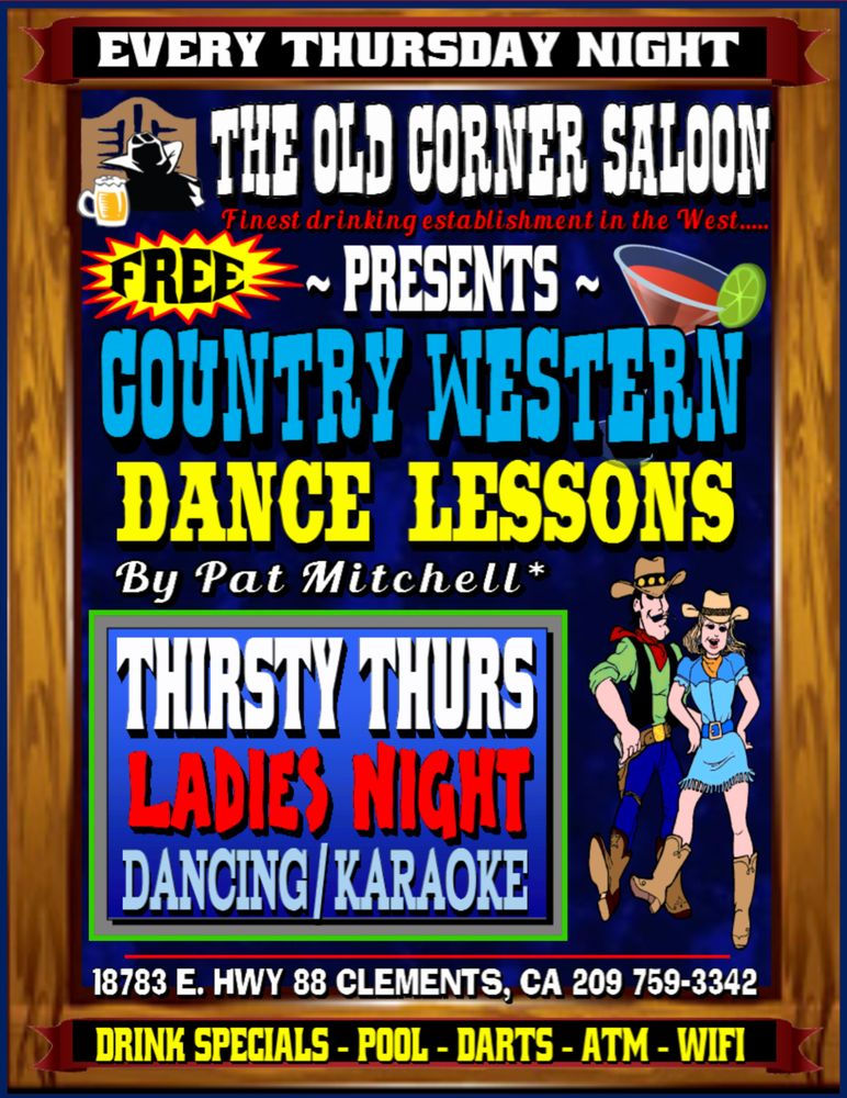 THIRSTY THURSDAY - LADIES NIGHT - FREE COUNTRY WESTERN ...