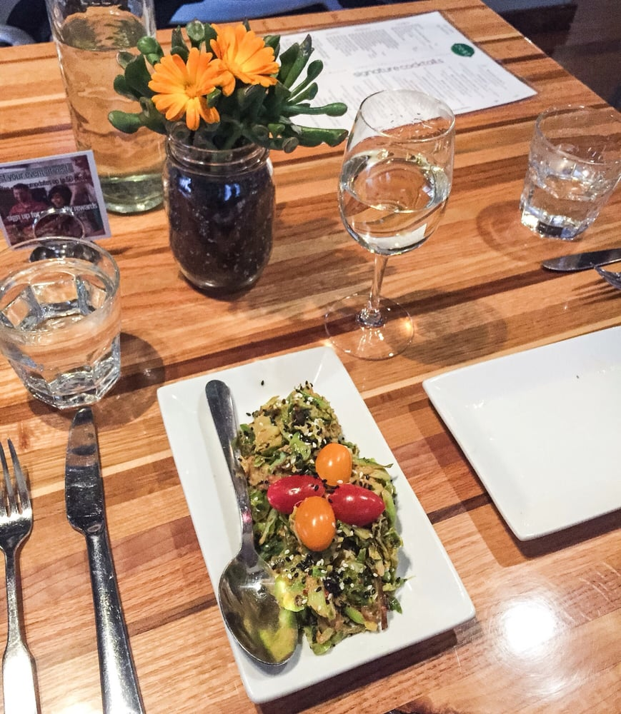 brussels sprouts and the cutest potted planet - yelp