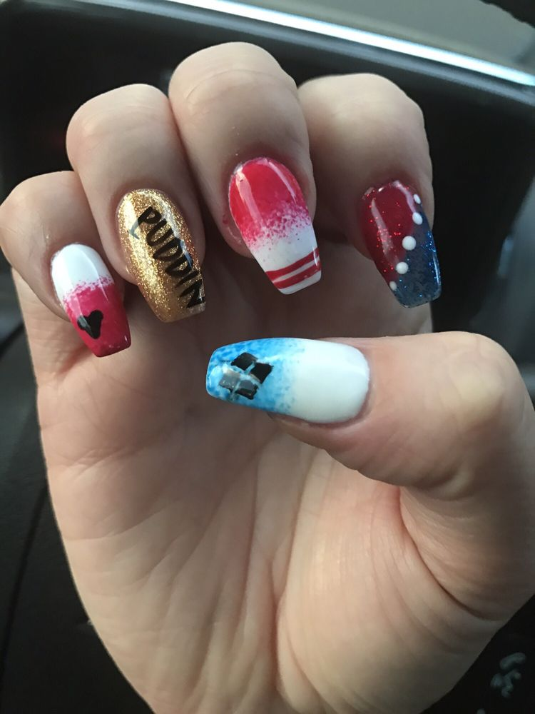 Harley Quinn Nails For My Halloween Costume Yelp