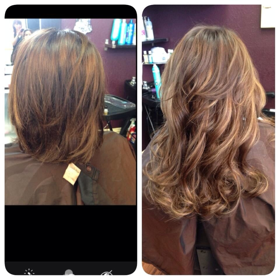 Before/after Klix hair extensions! - Yelp