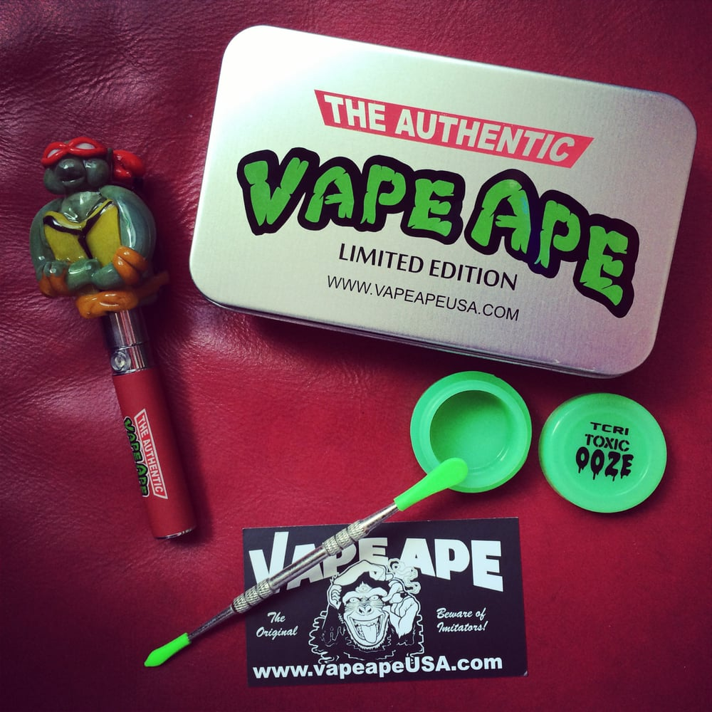 Vape Ape Limited Edition Ninja Turtles Glass Globe Kit With Wax Pen