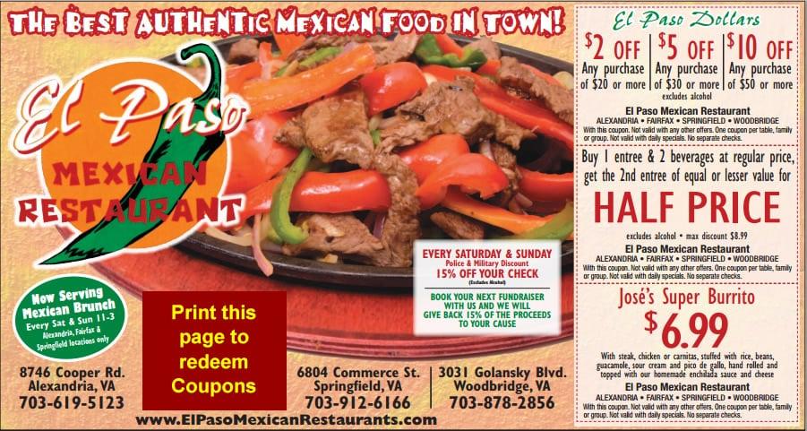 Photos For El Paso Mexican Restaurant Yelp