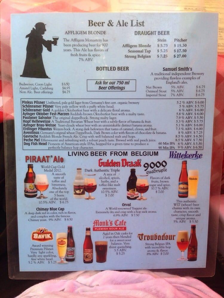 Best Beer Menu Yelp