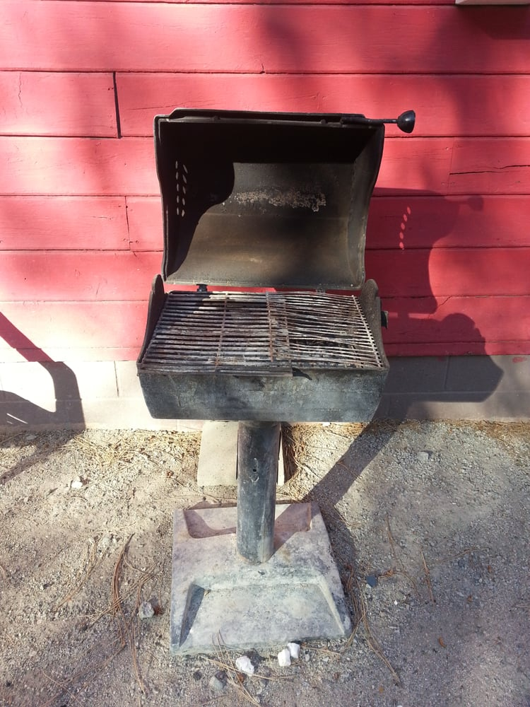 how to clean rusty bbq grill