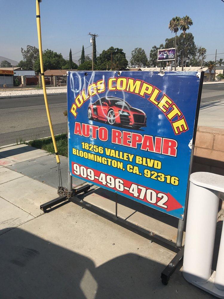Polo's Complete Auto Repair: 18256 Valley Blvd, Bloomington, CA