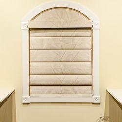 Photo Of Glamour Decorating Millburn Nj United States Roman Shade Arched Window