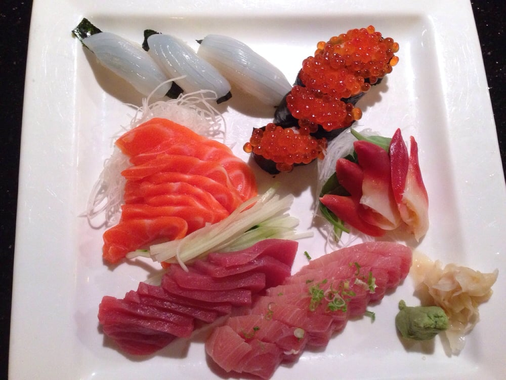 Mixed sushi and sashimi with beautiful presentation! - Yelp