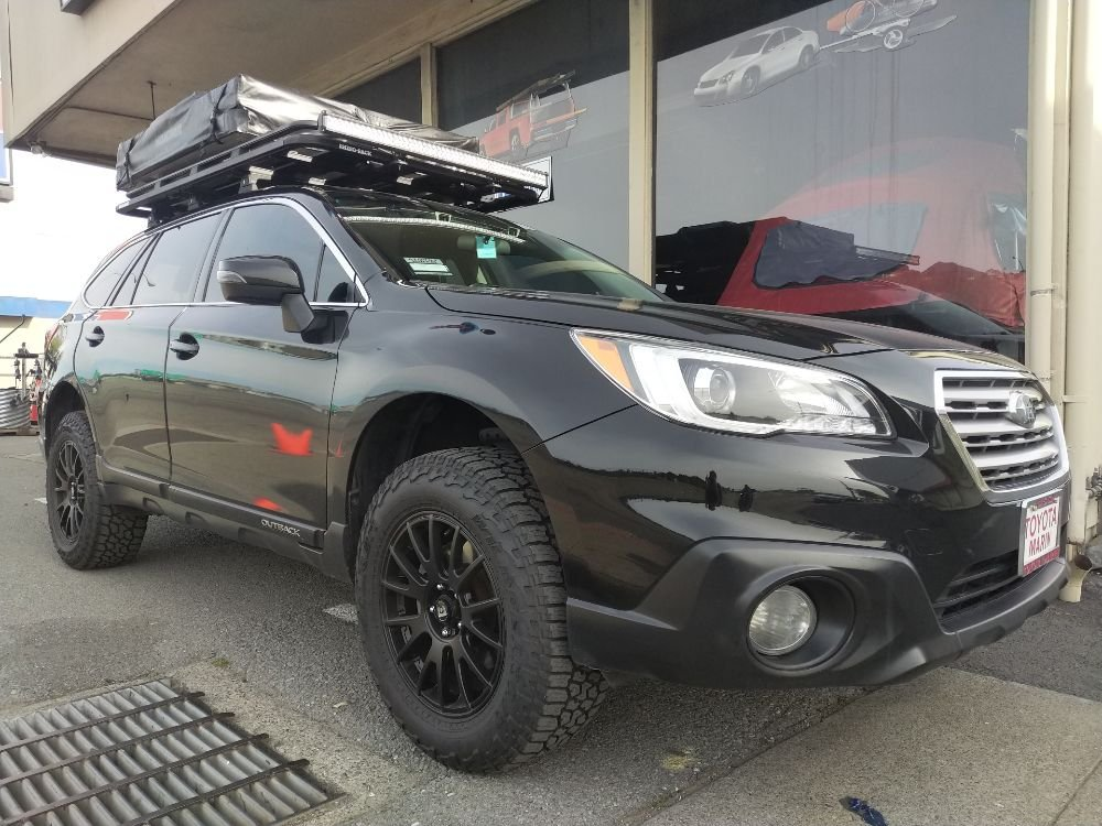 2017 Subaru Outback With Custom Rhino Rack Tray And Yakima Roof Tent