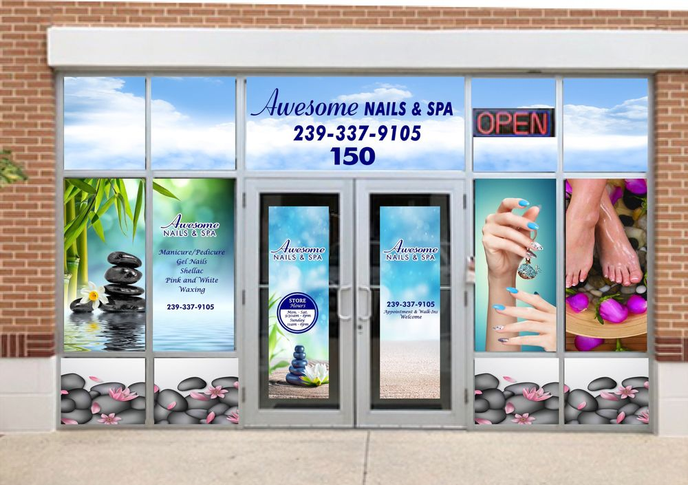 Awesome Nails and Spa: 9908 Gulf Coast Main St, Fort Myers, FL