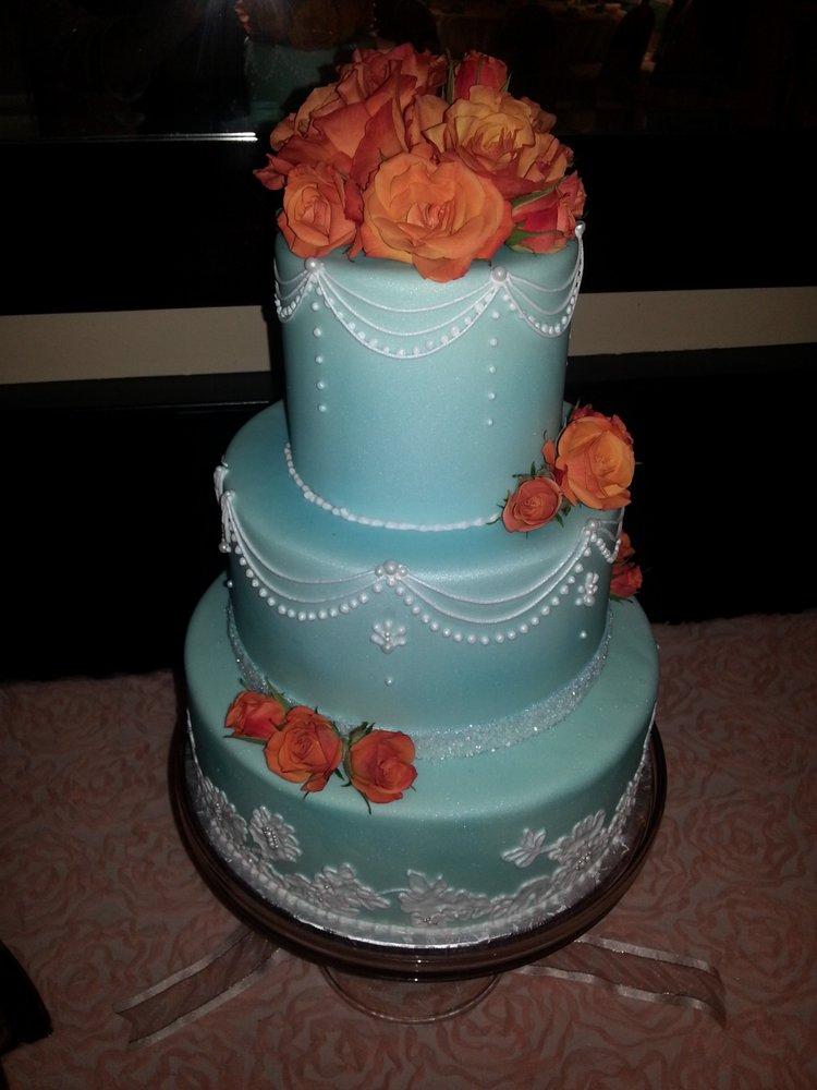 Turquoise And Orange Wedding Cake Yelp
