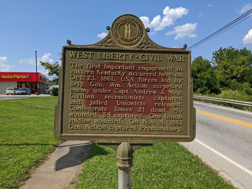 West Liberty-Civil War Historical Marker: 271 W Main St, West Liberty, KY